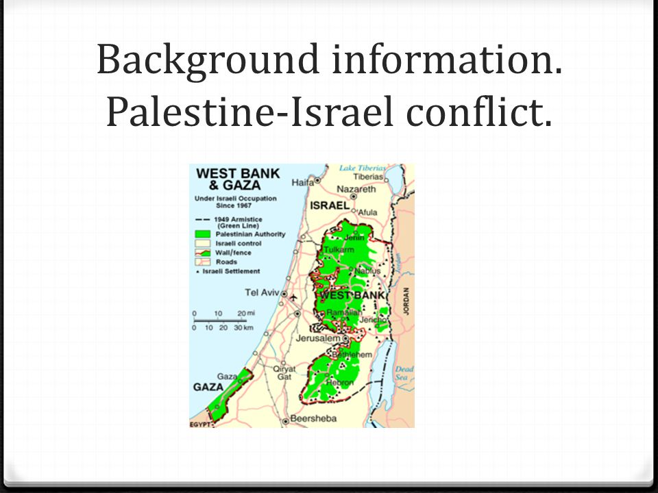 Background information. Palestine-Israel conflict.