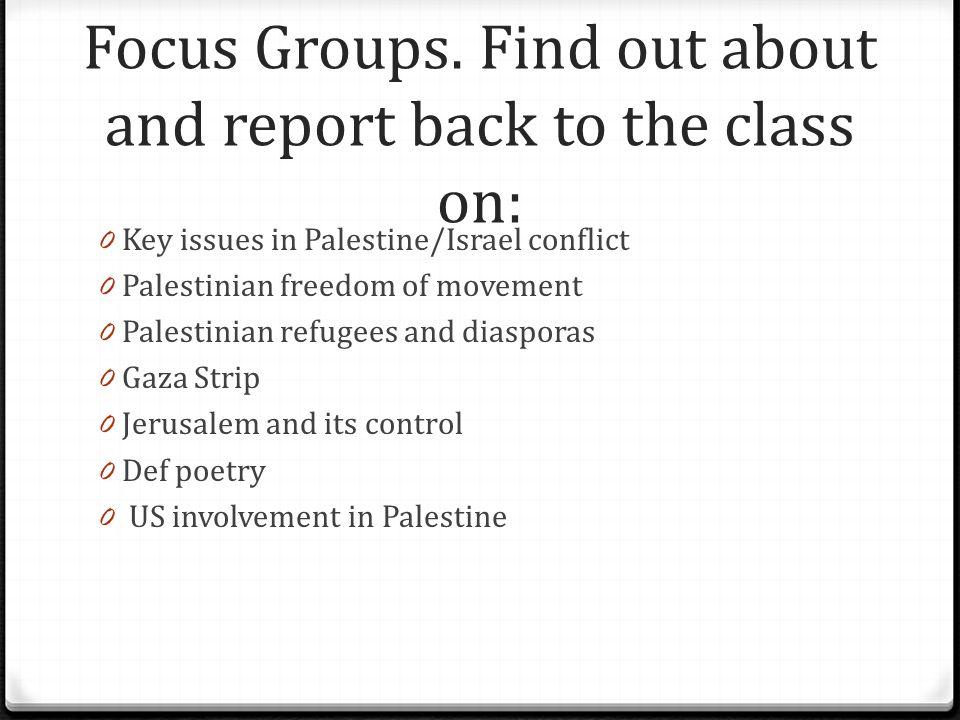 Focus Groups.