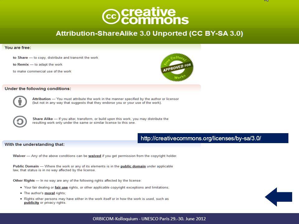Towards a commons-based copyright– IFLA 08/2010 13 ORBICOM-Kolloquium - UNESCO Paris 29.-30.