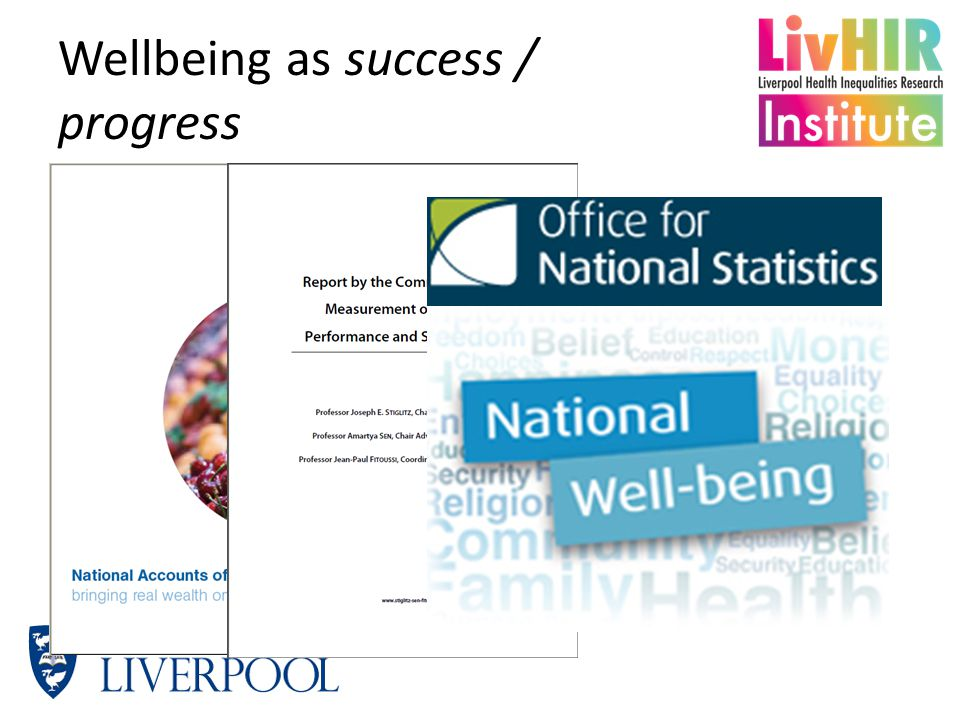 Wellbeing as success / progress