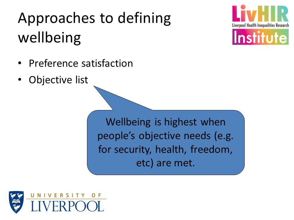 Wellbeing as mental health Strong association between population mean and % experiencing difficulties