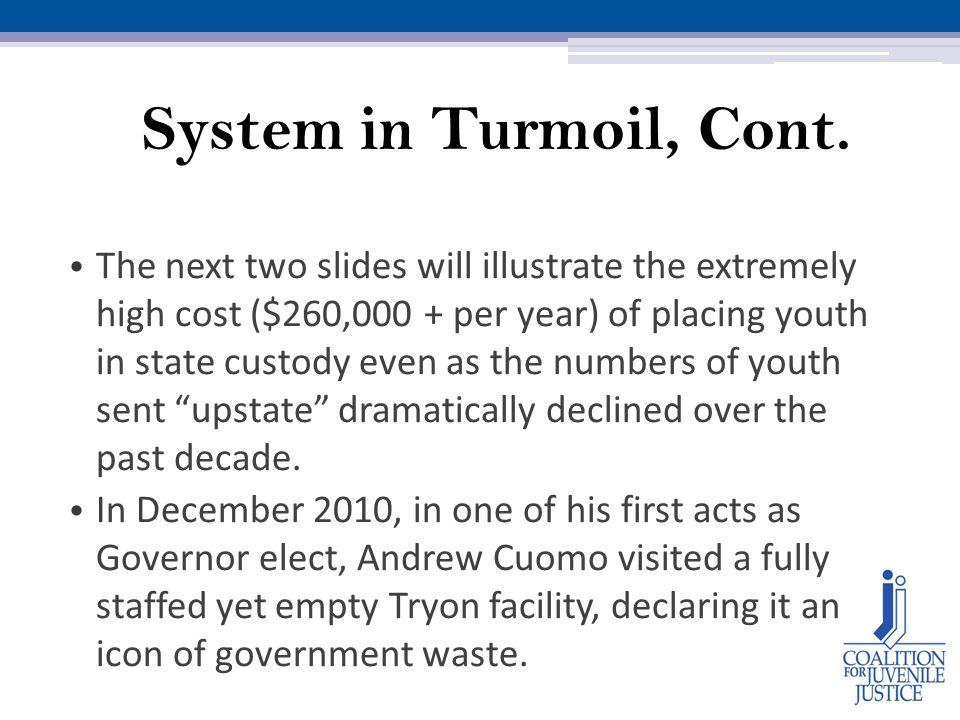 System in Turmoil, Cont.