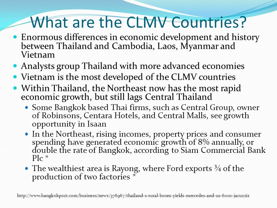 What are the CLMV Countries.