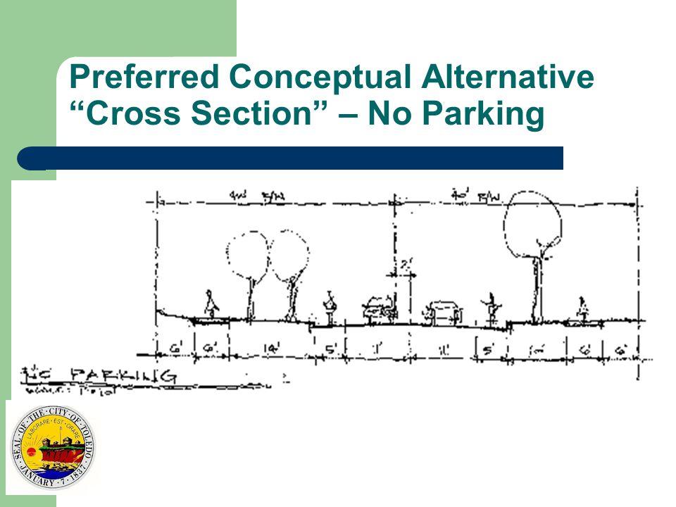 Preferred Conceptual Alternative Cross Section – No Parking
