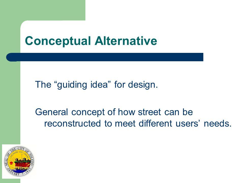 Conceptual Alternative The guiding idea for design.
