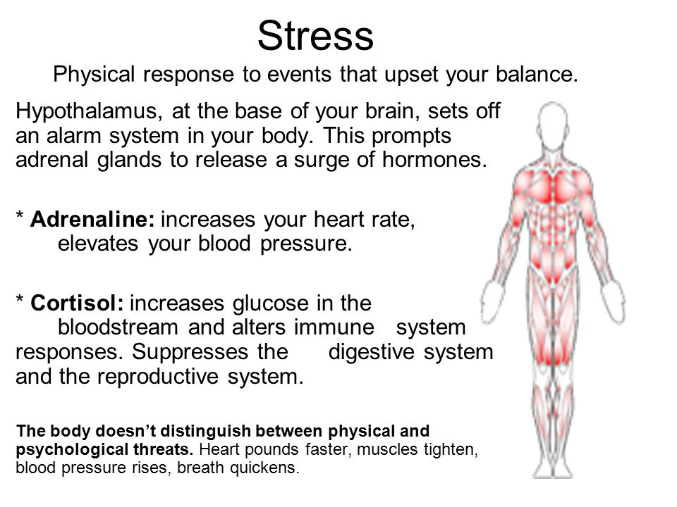 Stress Physical response to events that upset your balance.