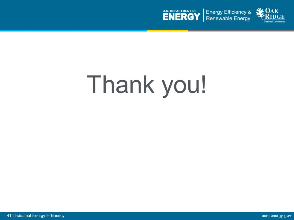 41 | Industrial Energy Efficiencyeere.energy.gov Thank you!