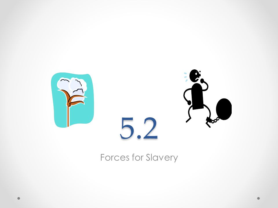 5.2 Forces for Slavery