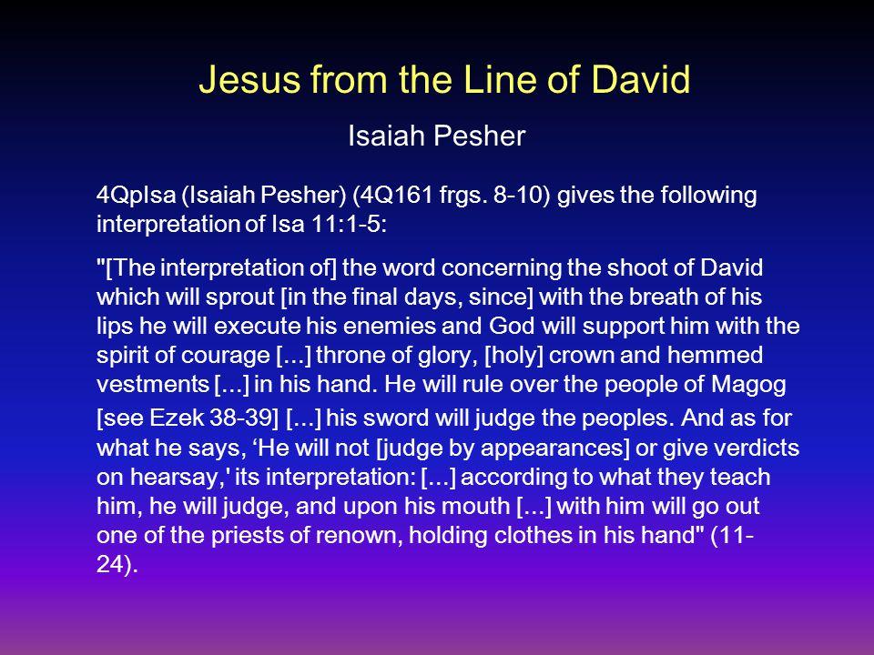 4QpIsa (Isaiah Pesher) (4Q161 frgs.