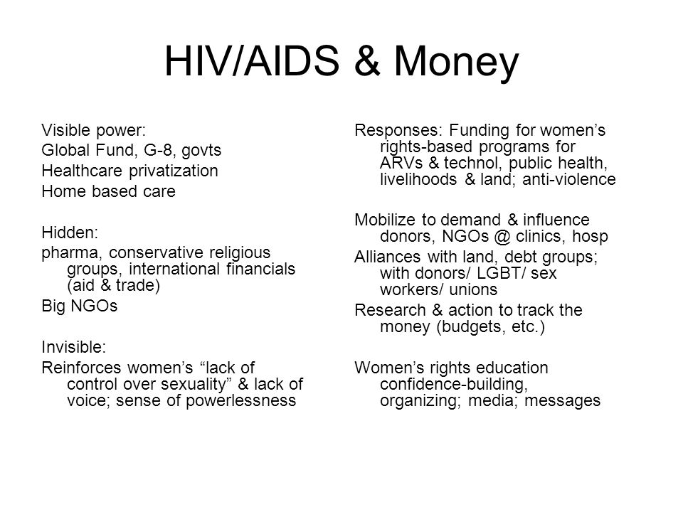 HIV/AIDS, Sex & Stigma Where feminist perspectives make a big difference & voice of +women essential.
