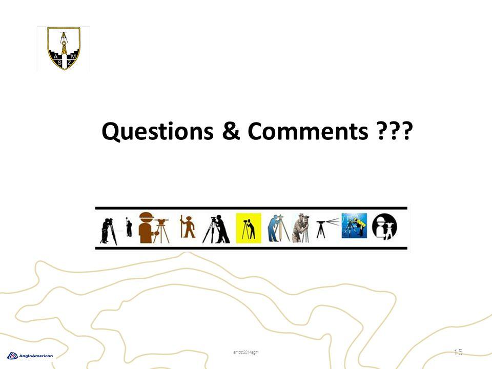 Questions & Comments 15 amsz2014agm