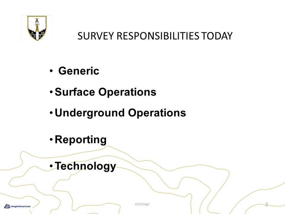 SURVEY RESPONSIBILITIES TODAY – Technology 3 The speed of technology…..