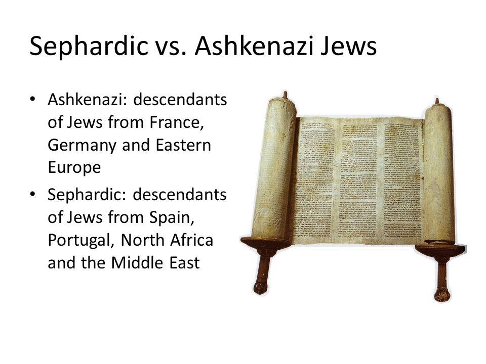 Sephardic vs.