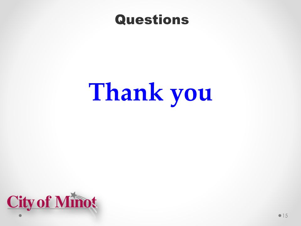 Questions 15 Thank you
