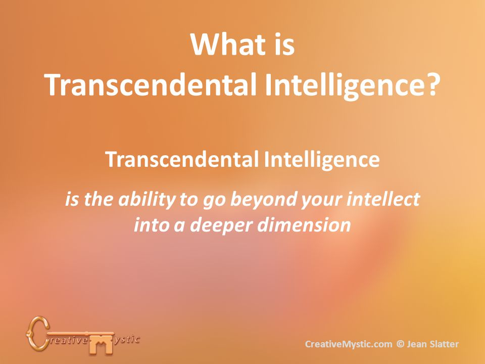 What is Transcendental Intelligence.