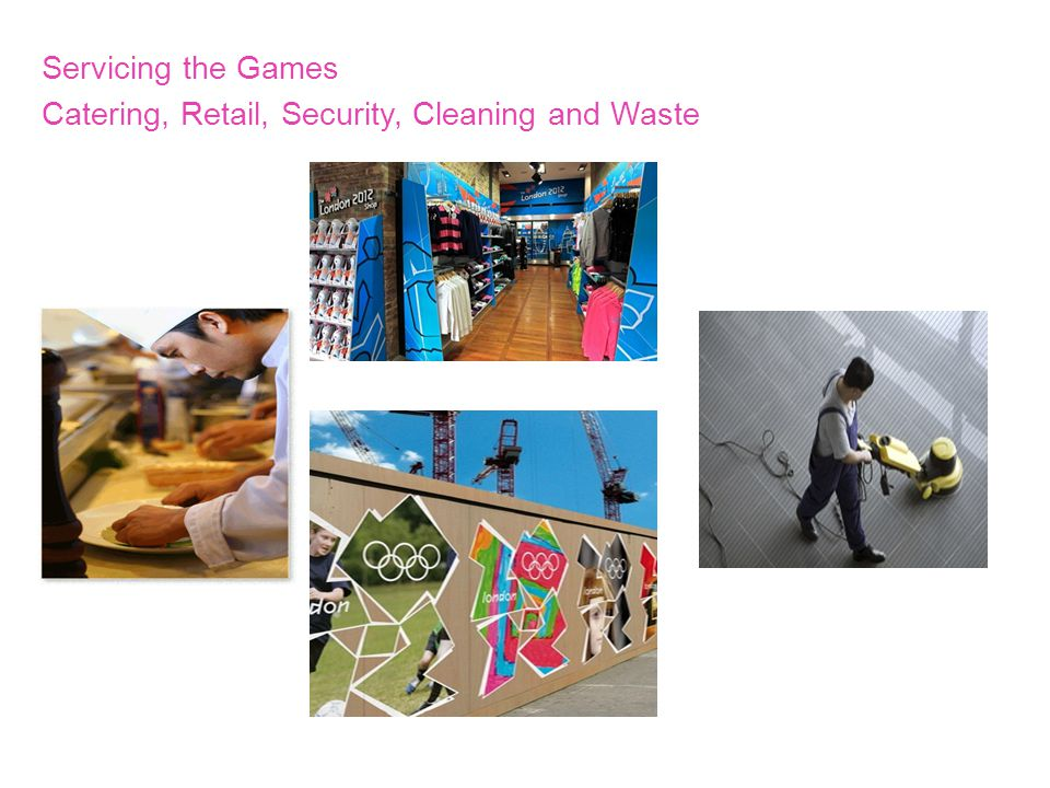 Servicing the Games Catering, Retail, Security, Cleaning and Waste