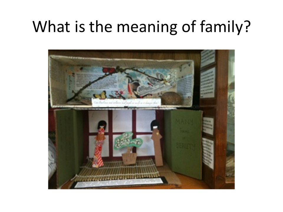 What is the meaning of family?