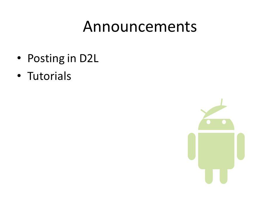 Announcements Posting in D2L Tutorials
