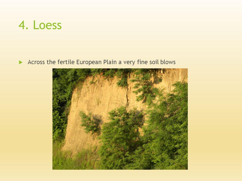 4. Loess  Across the fertile European Plain a very fine soil blows