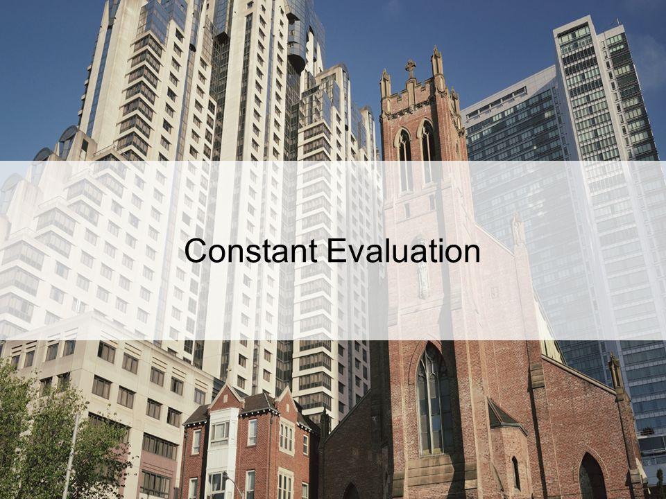 Constant Evaluation