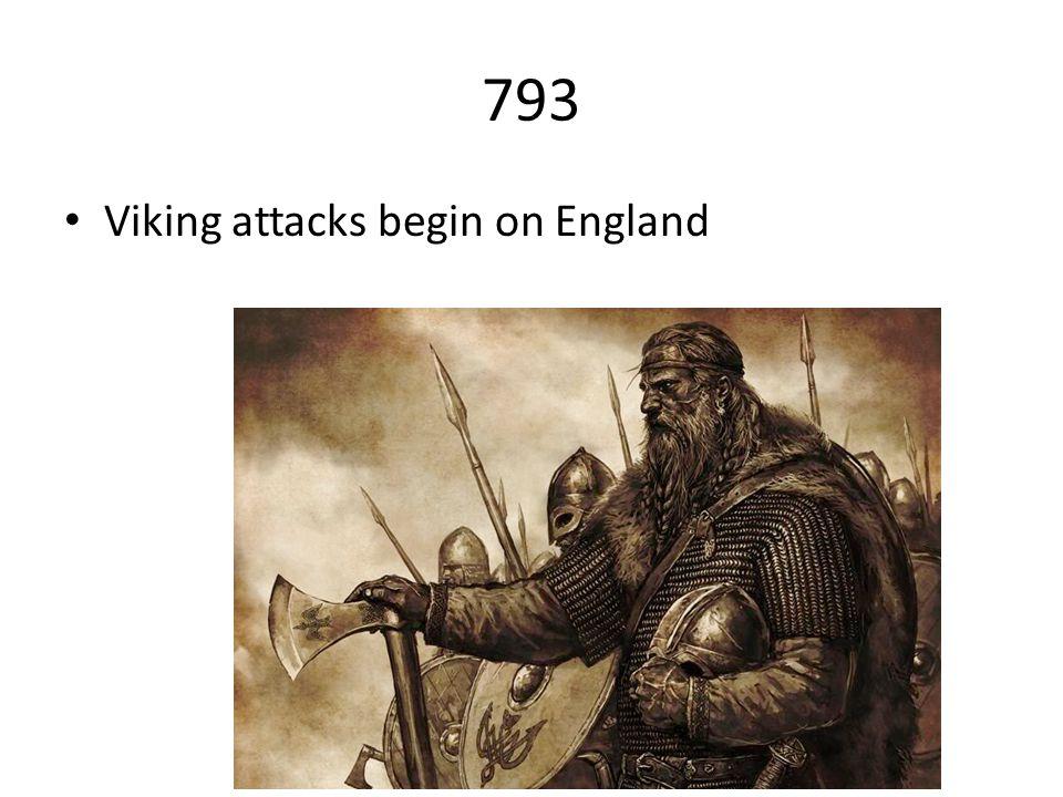 793 Viking attacks begin on England