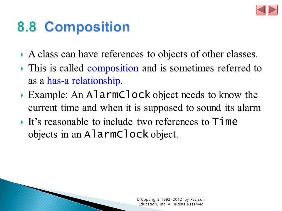  A class can have references to objects of other classes.
