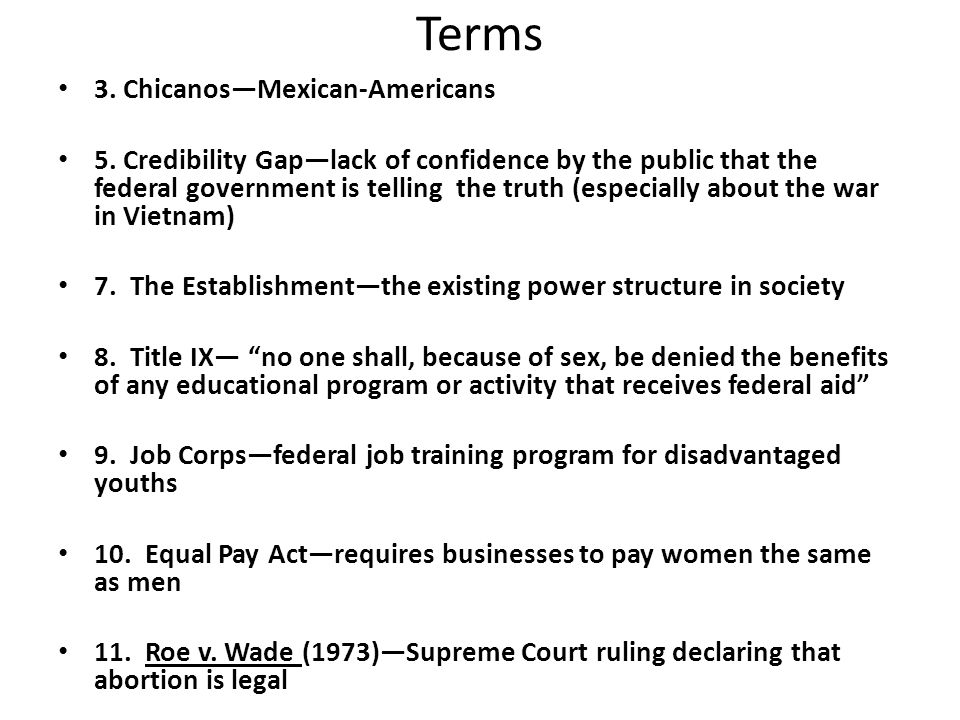 Terms 3. Chicanos—Mexican-Americans 5.