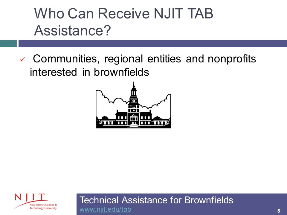 Who Can Receive NJIT TAB Assistance.