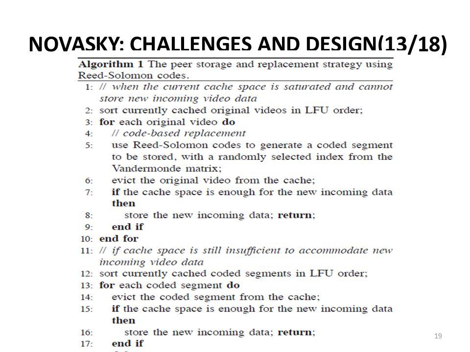 NOVASKY: CHALLENGES AND DESIGN(13/18) 19