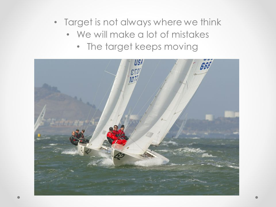Target is not always where we think We will make a lot of mistakes The target keeps moving