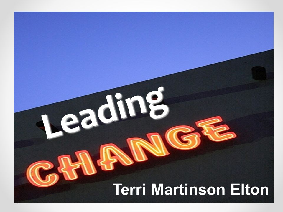 Change is personal and communal, individual and organizational.