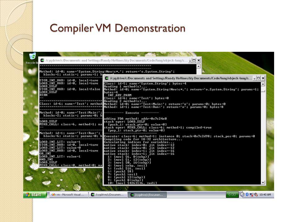 Compiler VM Demonstration