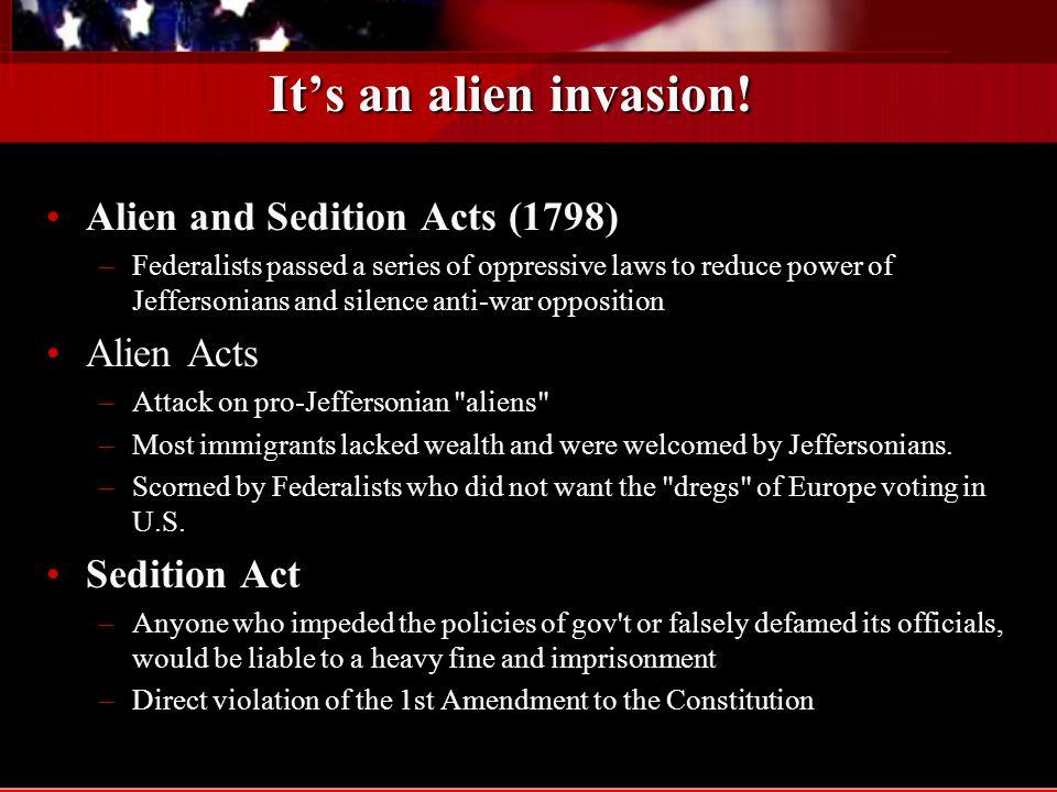 It's an alien invasion.