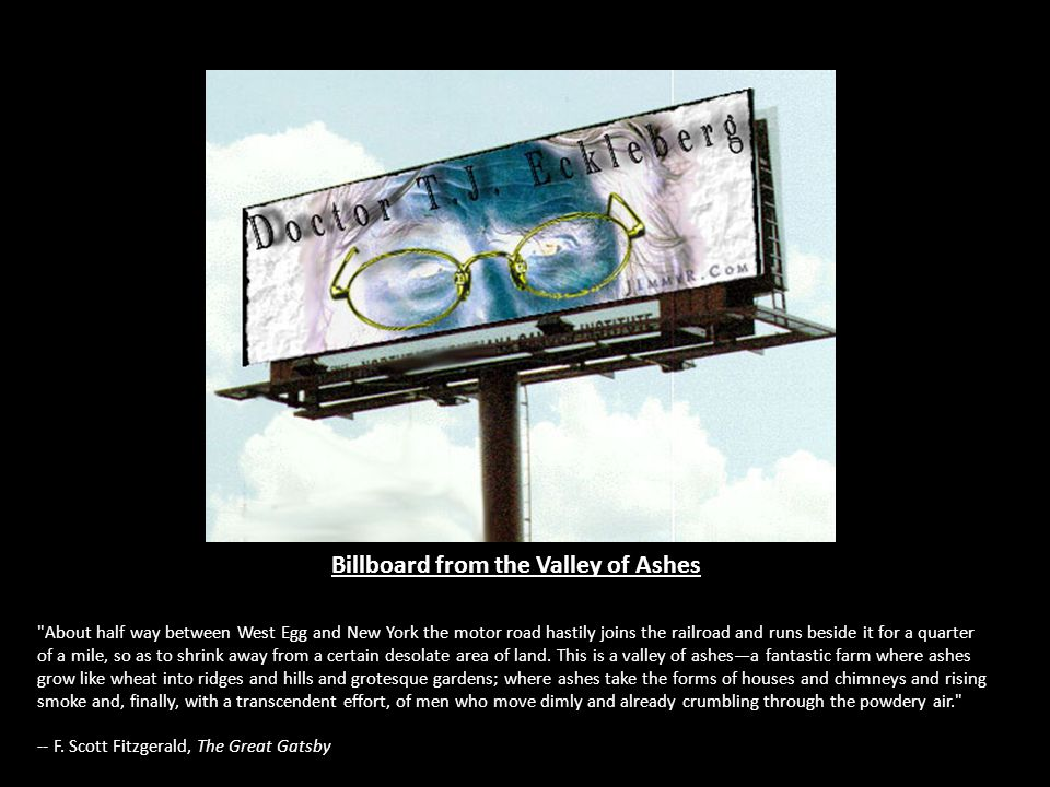 Billboard from the Valley of Ashes