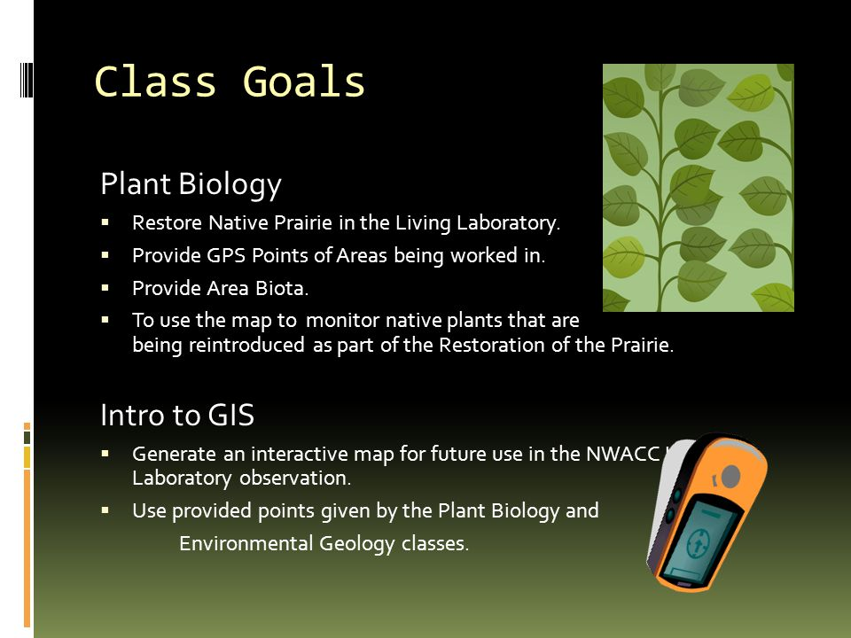 Plant Biology  Restore Native Prairie in the Living Laboratory.
