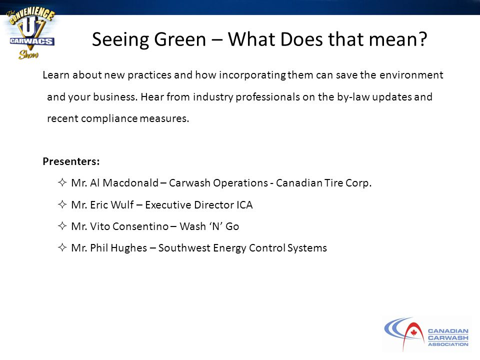 Seeing Green – What Does that mean.