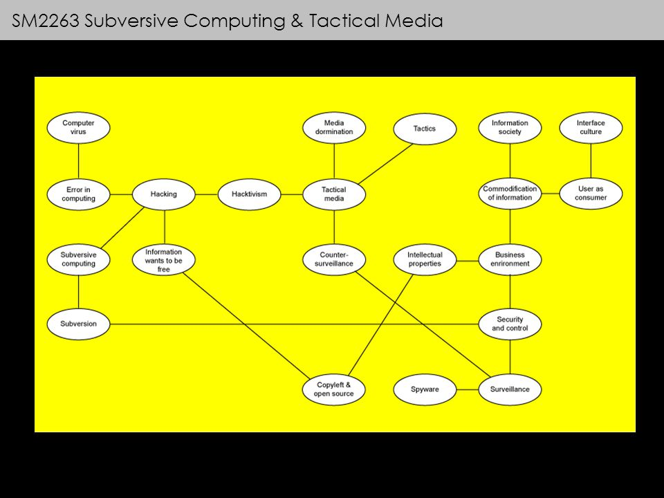 SM2263 Subversive Computing & Tactical Media