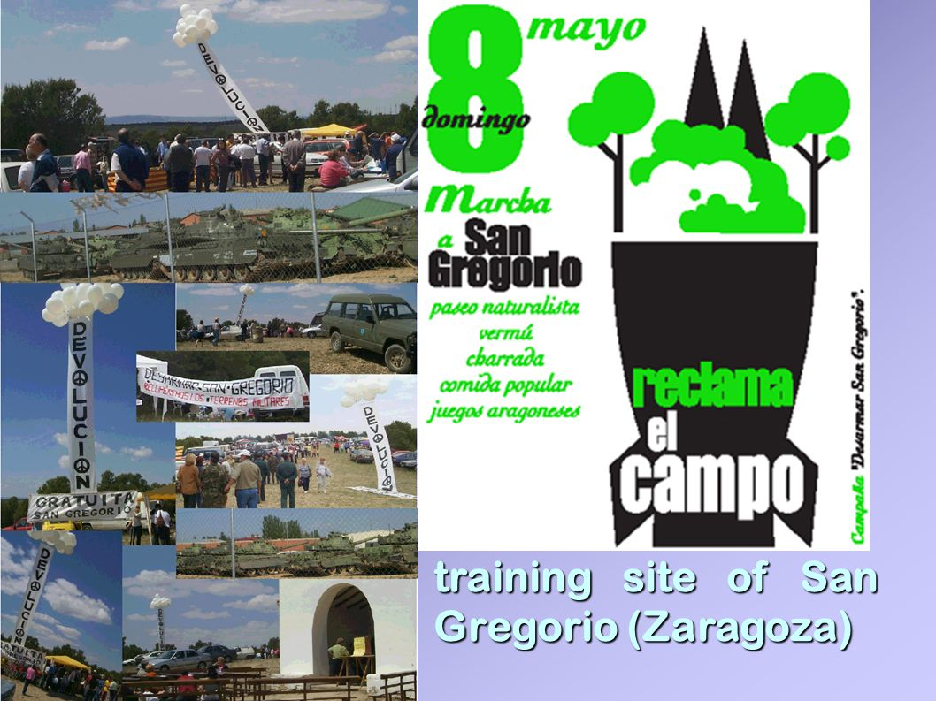 training site of San Gregorio (Zaragoza)