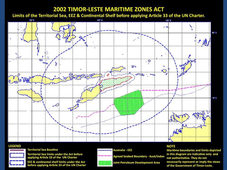 Timor-Leste nia deklarasaun territóriu maritima iha 2002