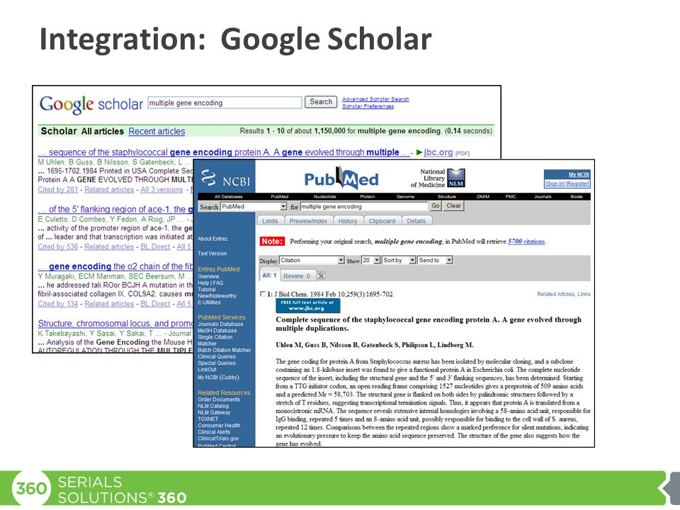 Integration: Google Scholar
