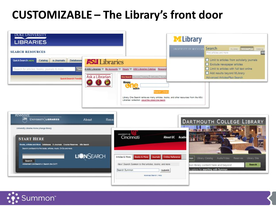 CUSTOMIZABLE – The Library's front door