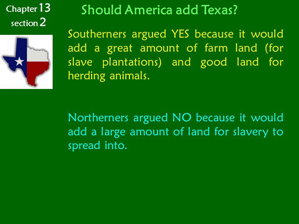 Should America add Texas.