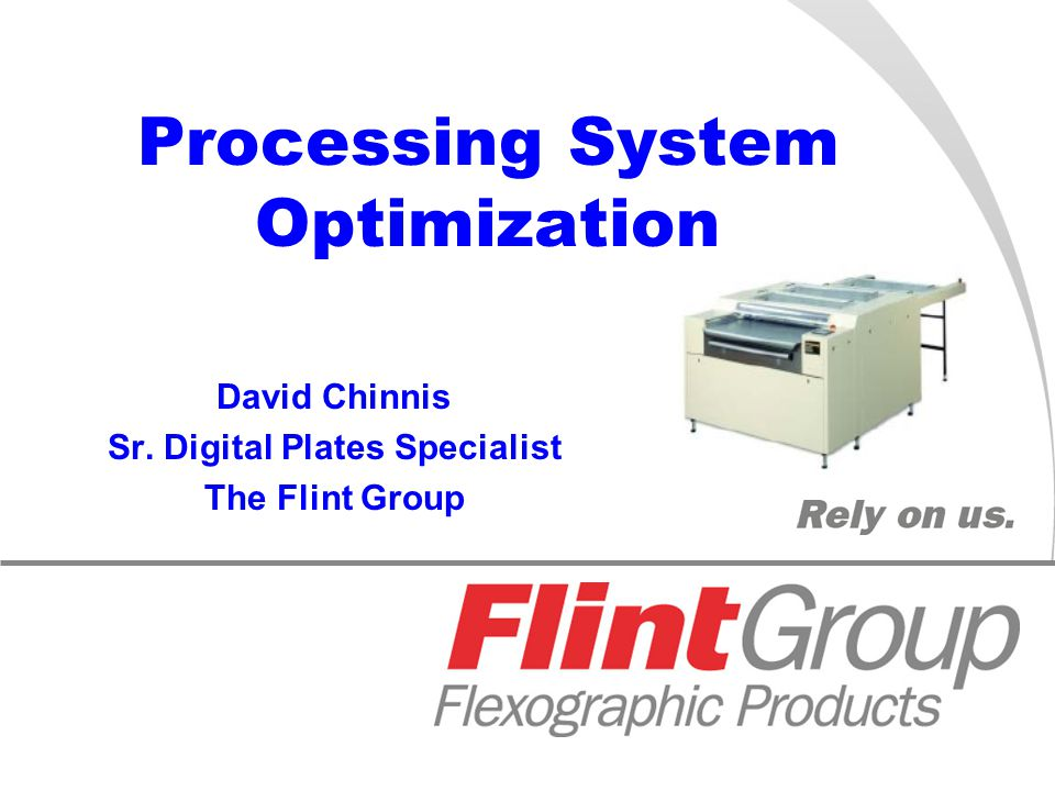 November 5-7, 2007 Nashville, TN Processing System Optimization David Chinnis Sr.