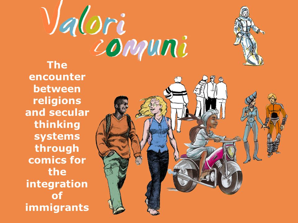 The encounter between religions and secular thinking systems through comics for the integration of immigrants