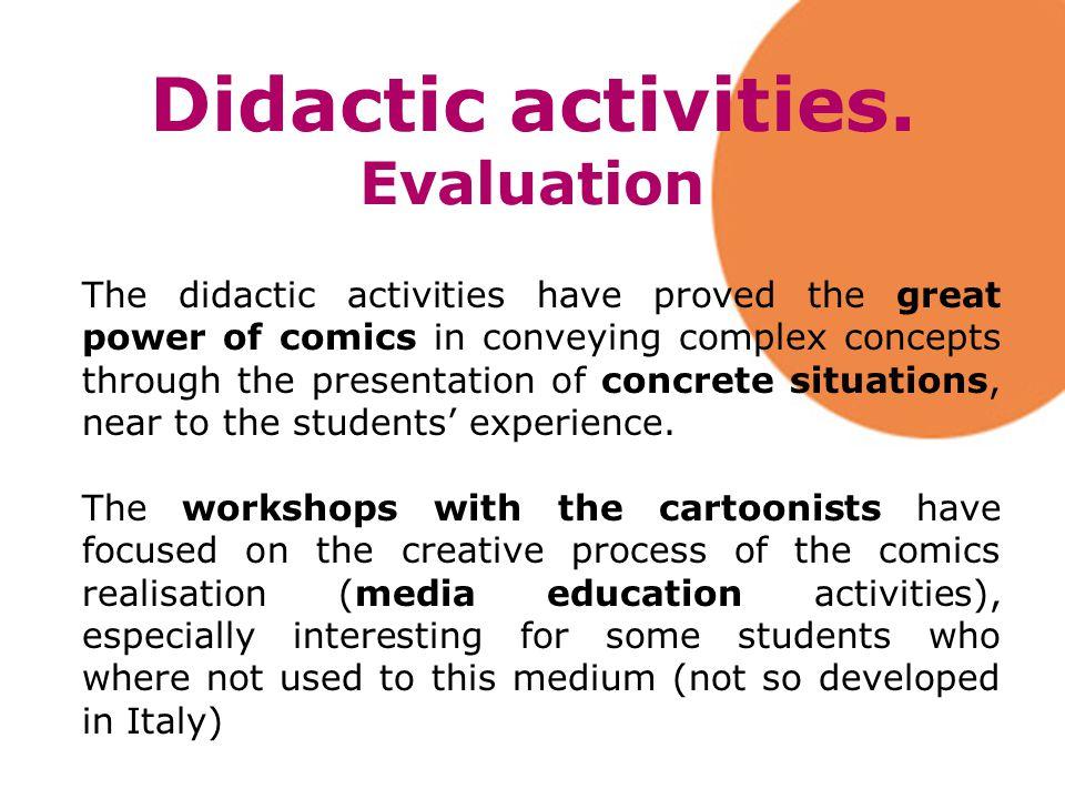 Didactic activities.