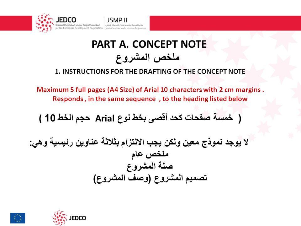 PART A. CONCEPT NOTE ملخص المشروع 1.