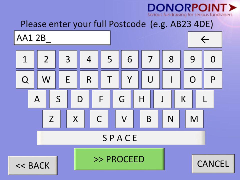 Please enter your full Postcode (e.g.