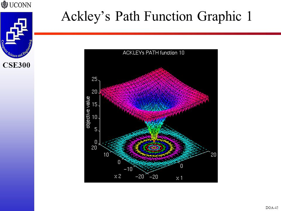 CSE298 CSE300 DGA-45 CSE300 Ackley's Path Function Graphic 1