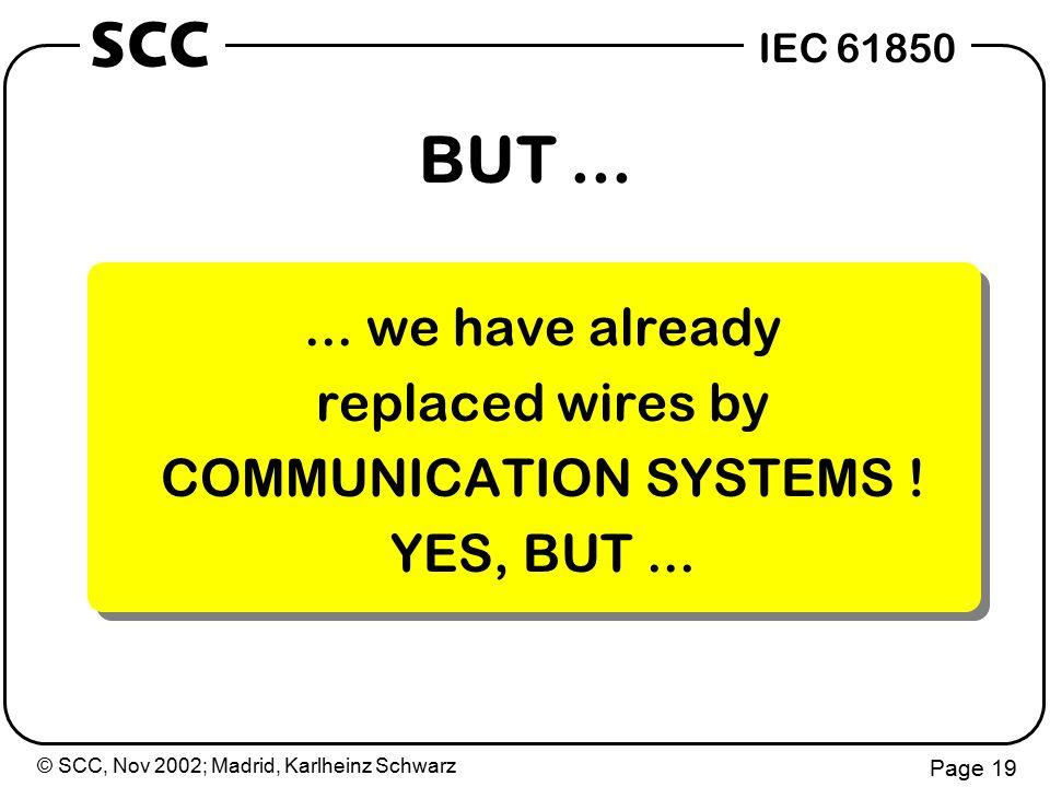 © SCC, Nov 2002; Madrid, Karlheinz Schwarz Page 19 IEC 61850 SCC BUT......