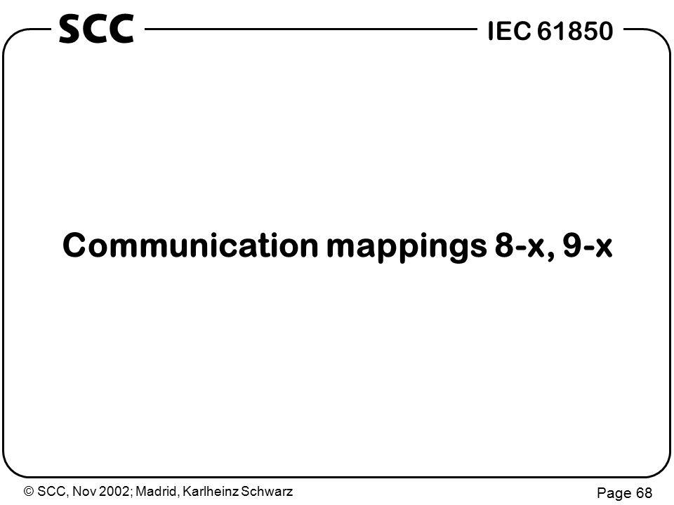 © SCC, Nov 2002; Madrid, Karlheinz Schwarz Page 68 IEC 61850 SCC Communication mappings 8-x, 9-x